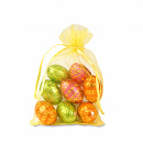 Easter eggs in organza bag